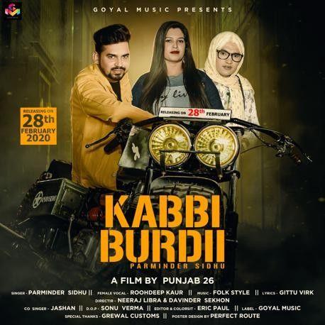 Kabbi Burdii Parminder Sidhu Mp3 Song Download